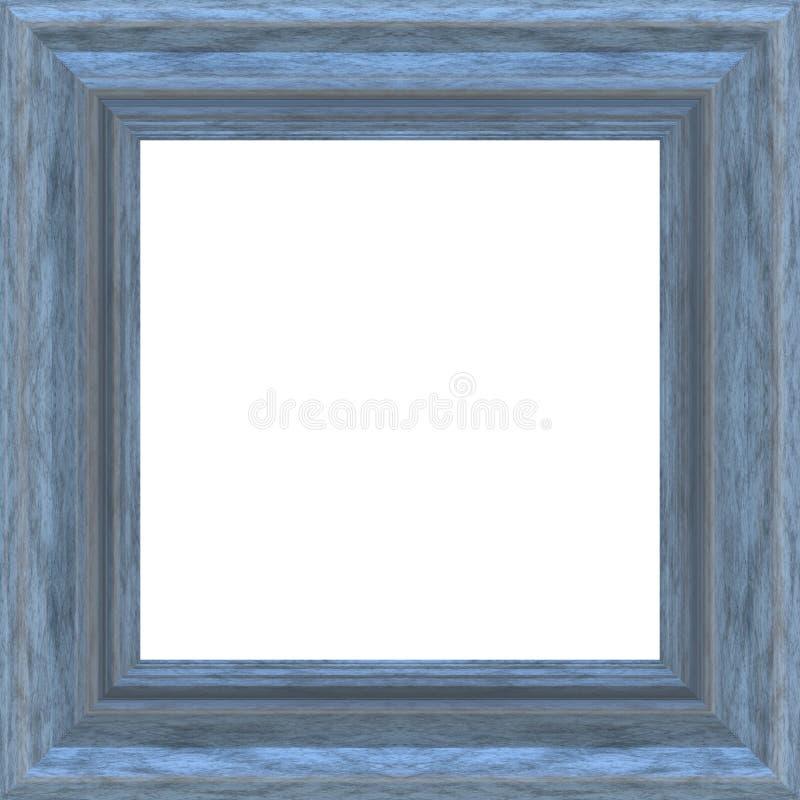 błękit ramy kwadrata drewno ilustracja wektor