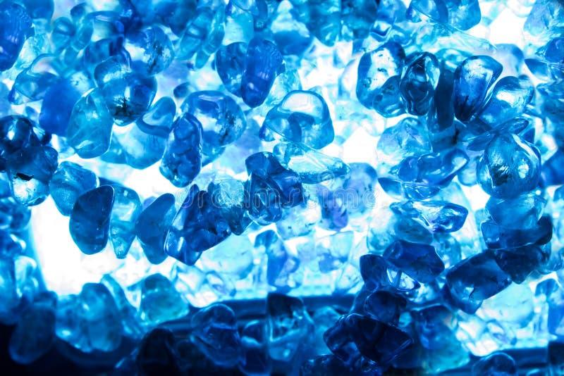 Błękit rozjaśniający kwarcowy zbliżenie obrazy stock