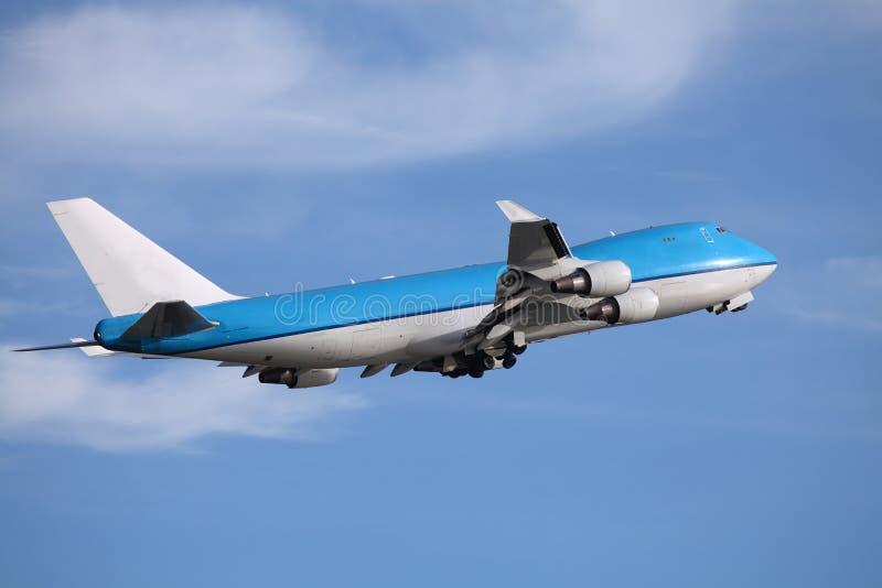 błękit samolot zdjęcie stock