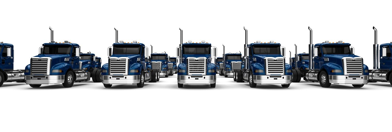 Błękit Semi ciężarowa flota royalty ilustracja