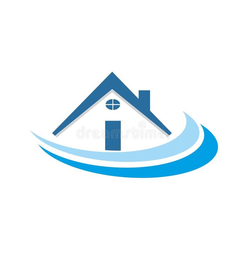 Błękit społeczności sąsiedztwa domowy wektor ilustracja wektor