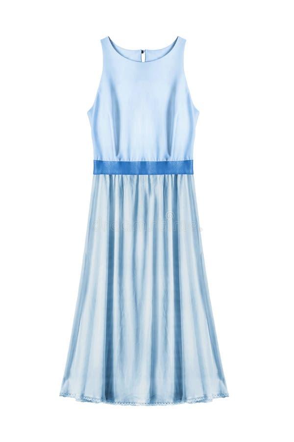 Błękit suknia odizolowywająca obraz royalty free