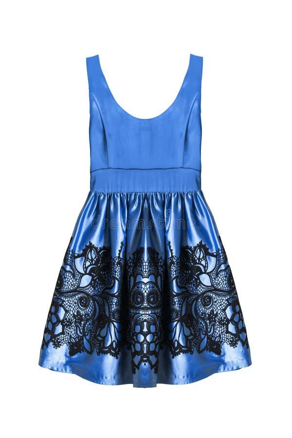 Błękit suknia odizolowywająca zdjęcie royalty free