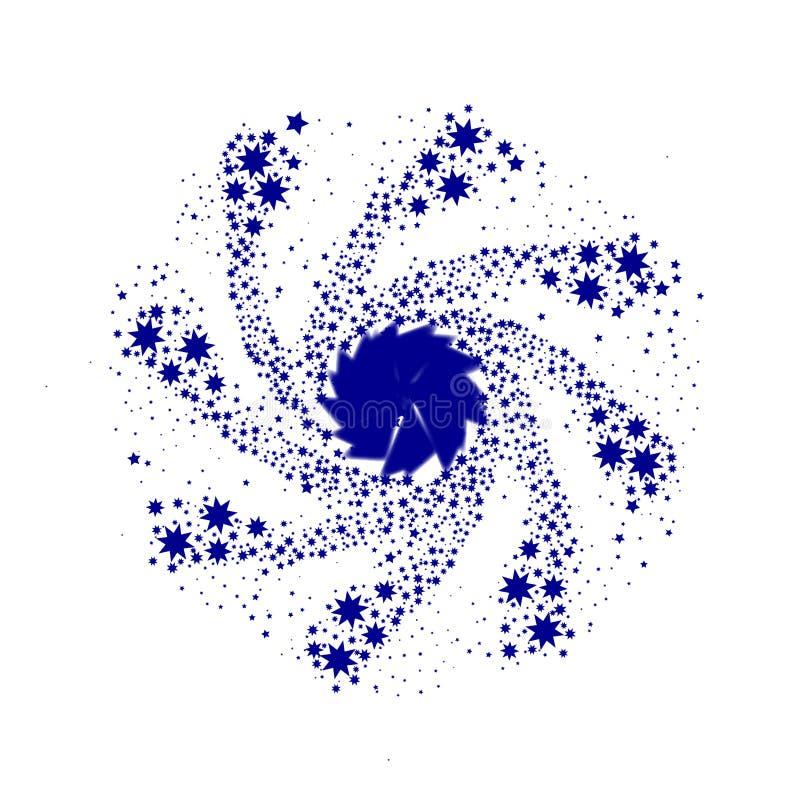 Błękit szpilki koło royalty ilustracja