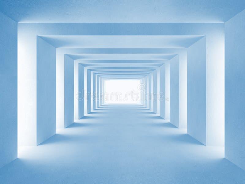błękit tunel