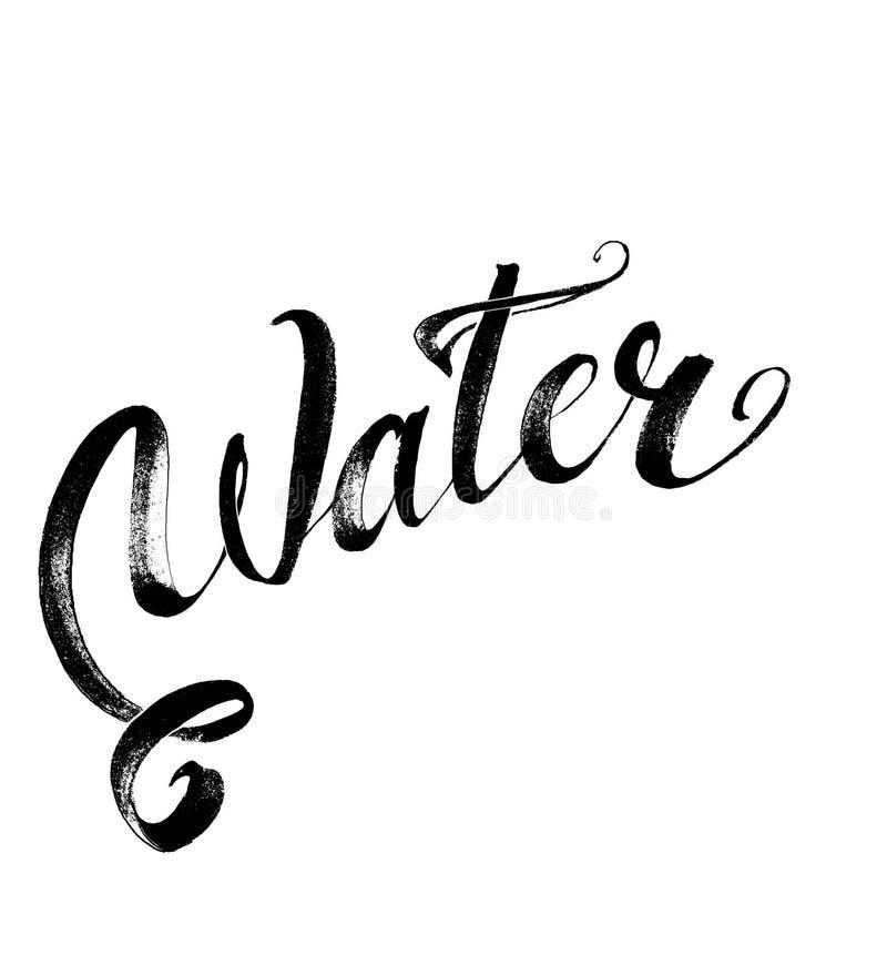 Błękit, wodne chełbotanie krople; odosobniony ilustracja wektor