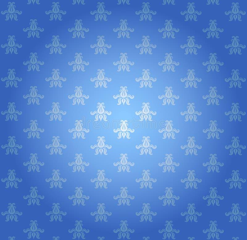 błękit wzoru tapeta royalty ilustracja