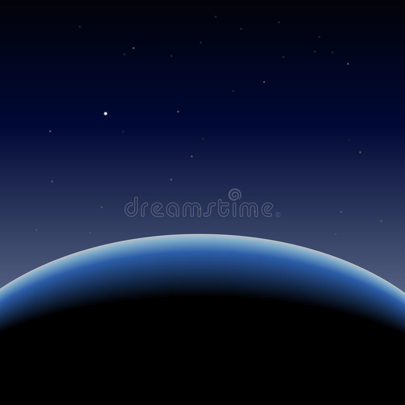 błękit ziemska horyzontu planeta ilustracja wektor