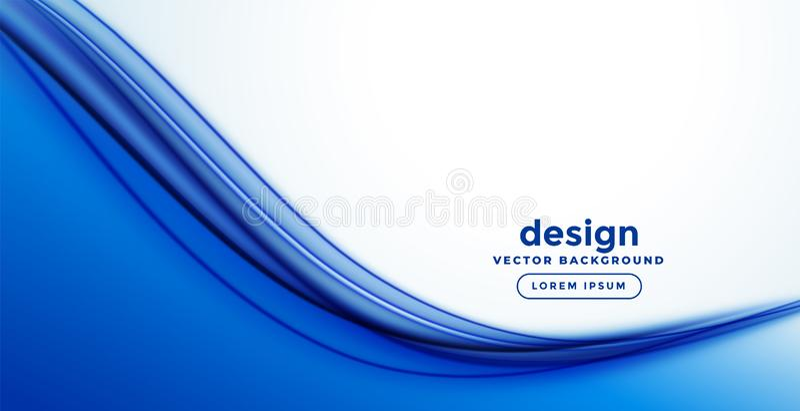 Błękita abstrakta fali sztandaru gładki projekt ilustracja wektor
