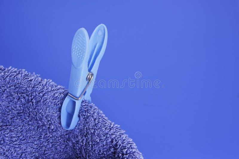 Błękita czop na Błękitnym ręczniku obraz royalty free