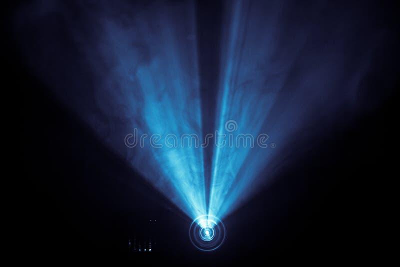 Błękita dymny światło reflektorów obrazy royalty free