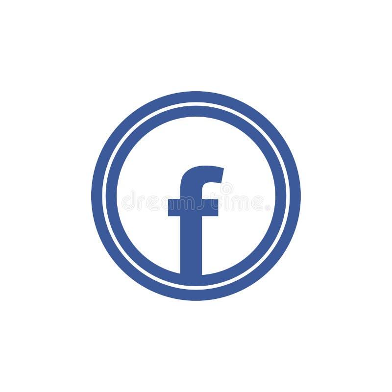 Błękita f wektoru listowa ikona ilustracja wektor