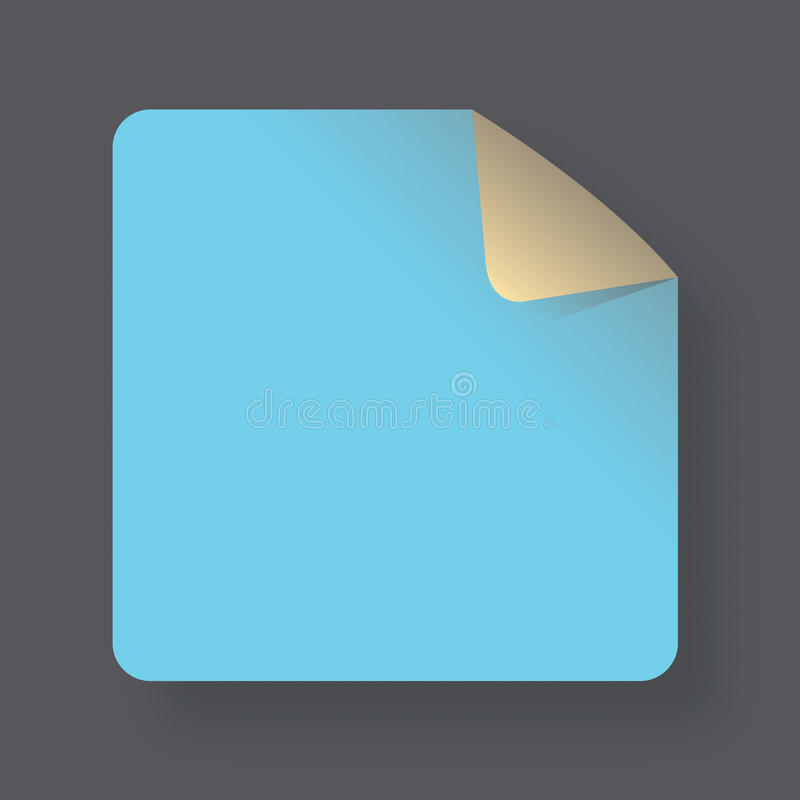 Błękita kąta notatka zdjęcie stock