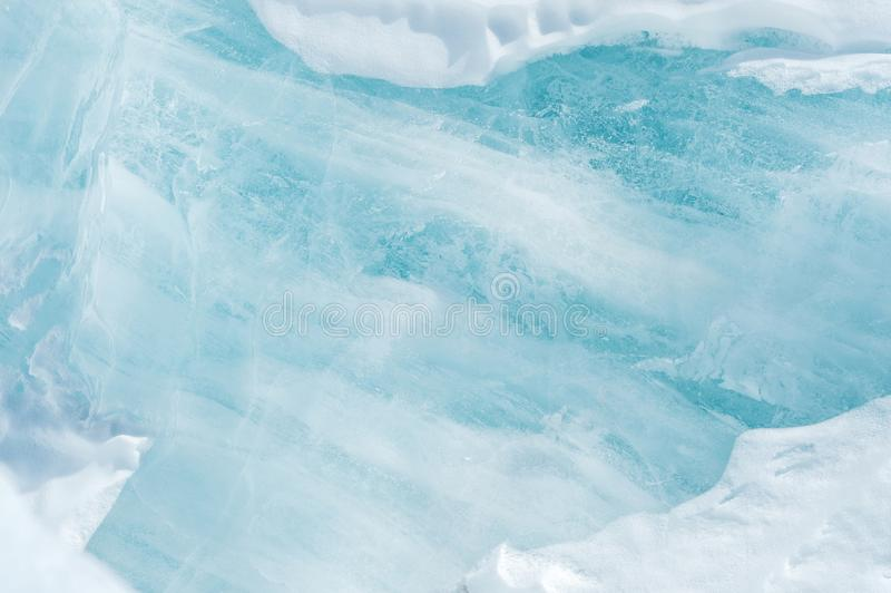 Błękita lodowy abstrakcjonistyczny naturalny tło Elementy lodowiec Zakończenie obrazy royalty free