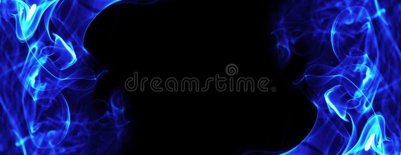 Błękita ogień płonie energii ramę ilustracji