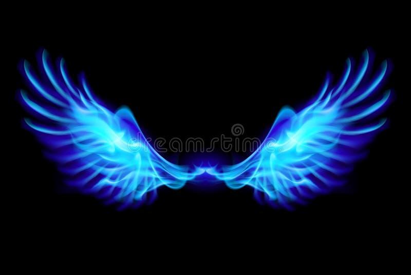 Błękita ogienia skrzydła. royalty ilustracja