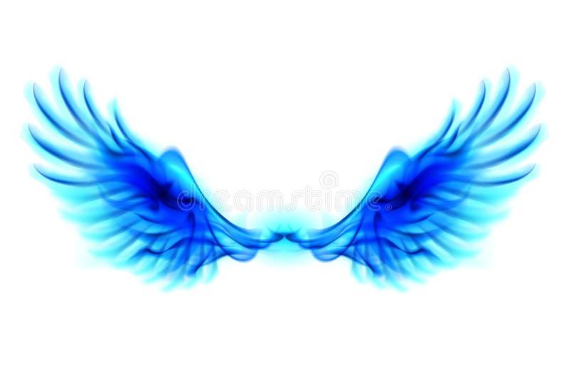Błękita ogienia skrzydła royalty ilustracja