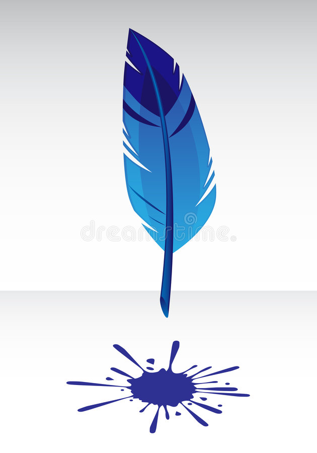 błękita piórka pluśnięcie ilustracji