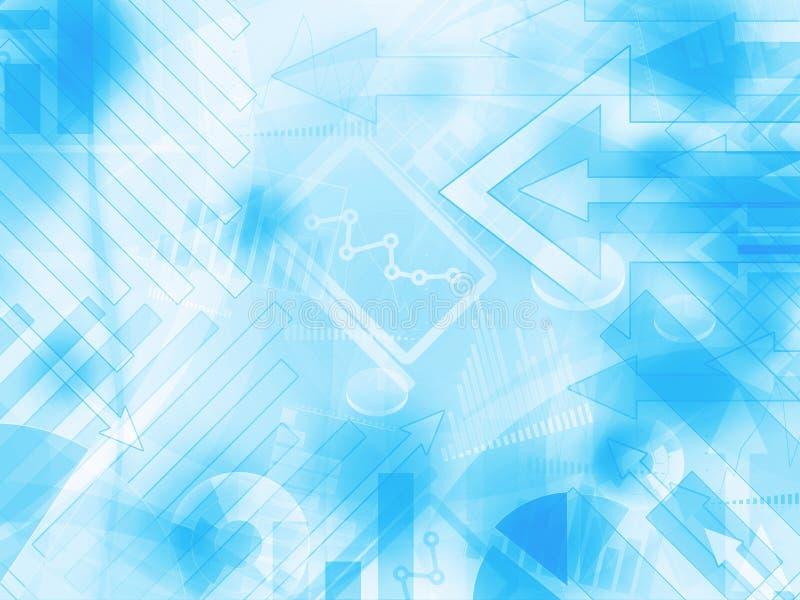 Błękita pieniężnego tła lekka abstrakcjonistyczna ilustracja ilustracji