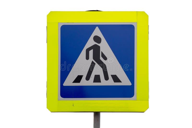Błękita ruchu drogowego kwadratowy znak dla zwyczajnego skrzyżowania obraz royalty free