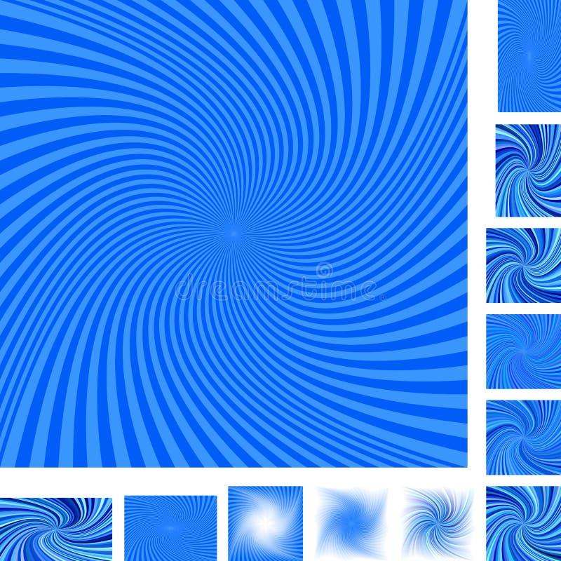 Błękita tła ślimakowaty set ilustracja wektor