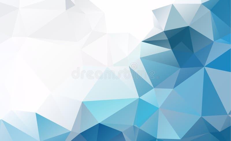 Błękita wieloboka trójboka wzoru Lekki Poligonalny Niski tło ilustracja wektor