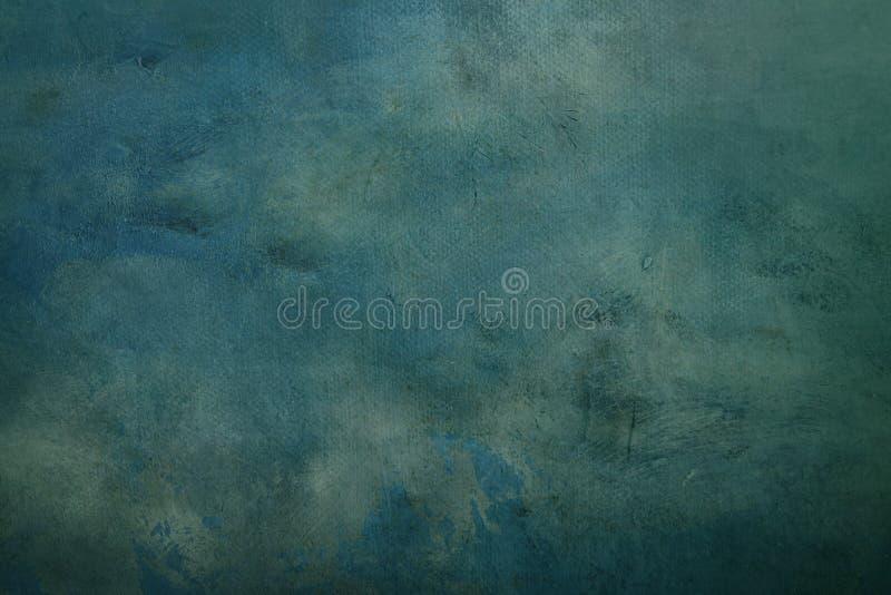 Błękitna abstrakcjonistyczna brezentowa tekstura lub tło obrazy stock