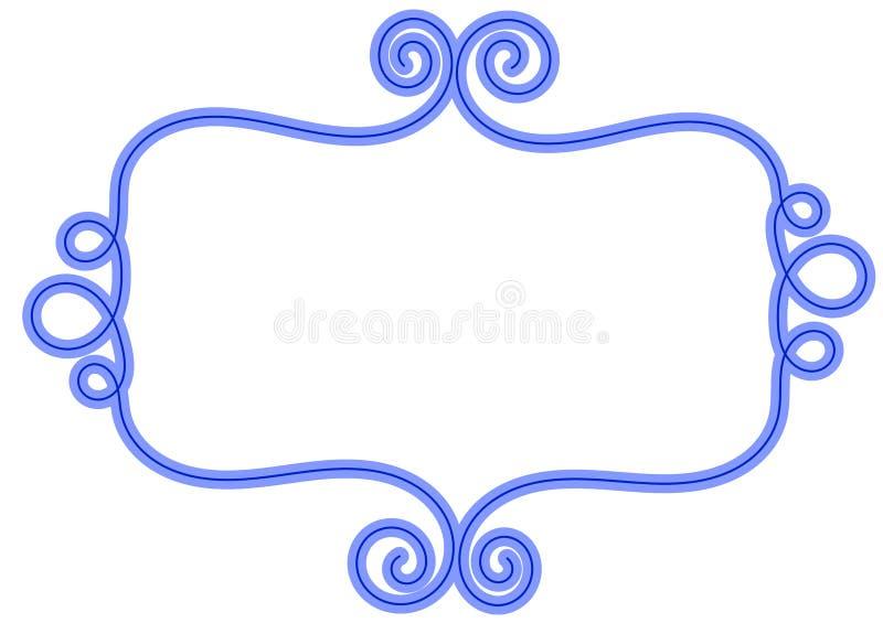 Błękitna Abstrakcjonistyczna fala ramy granica ilustracja wektor