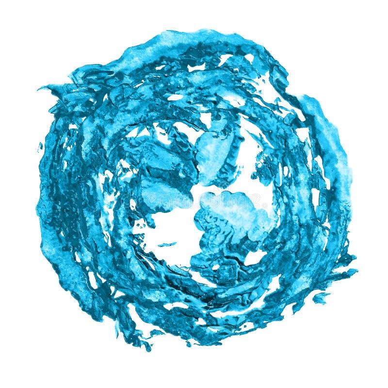 Błękitna abstrakcjonistyczna plama robić farba odcisku snowball zdjęcia royalty free