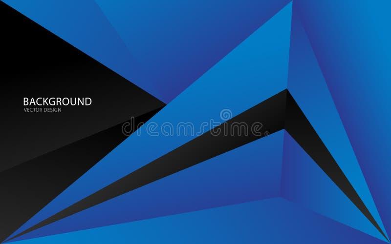 Błękitna abstrakcjonistyczna tło wektoru ilustracja wallah Sieć sztandar pokrywa Karta struktura wally Ulotka Broszurka Sprawozda royalty ilustracja