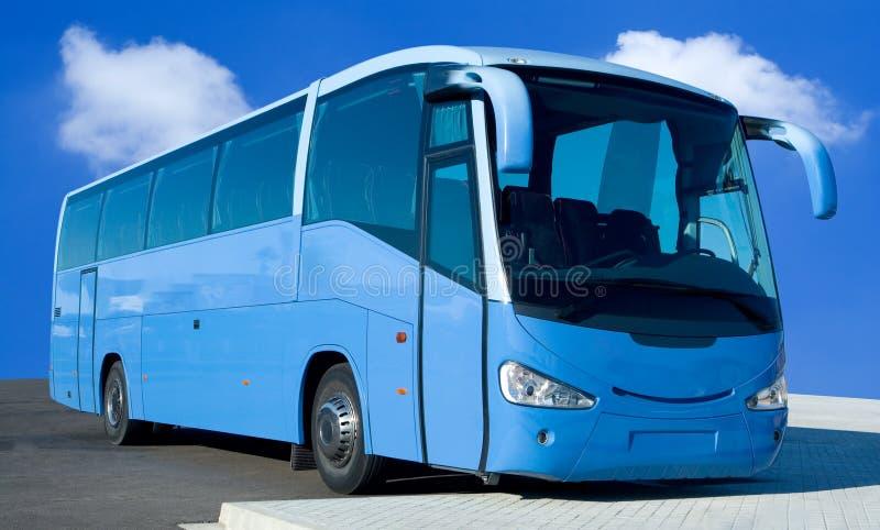 błękitna autobusowa wycieczka turysyczna zdjęcia royalty free
