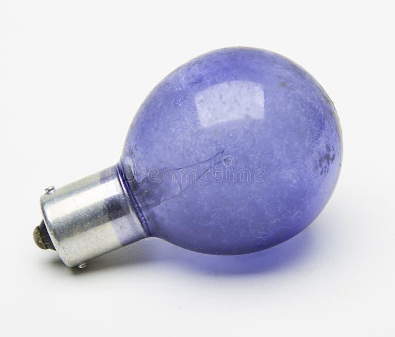 Błękitna błyskowa żarówka zdjęcie royalty free