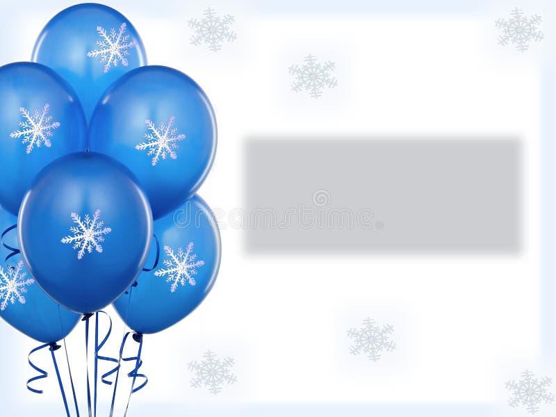 Błękitna baloons zima zdjęcie royalty free