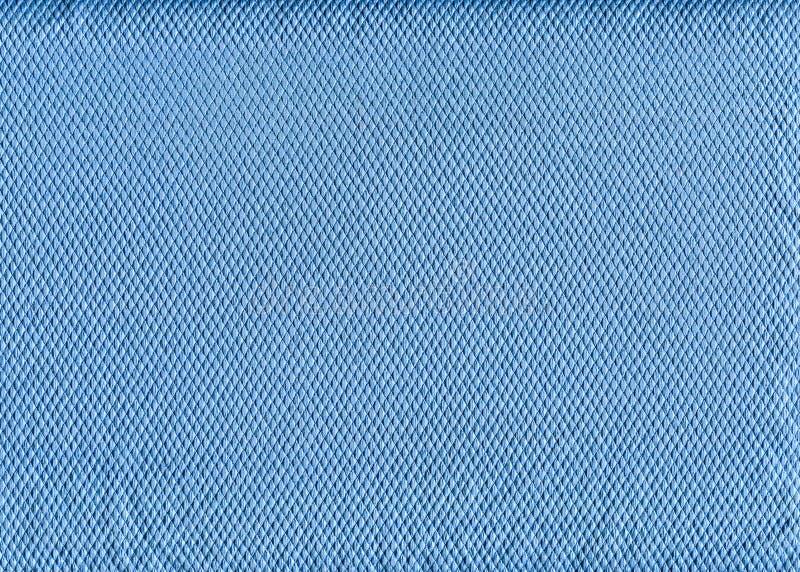 Błękitna czysta tkaniny tekstura fotografia stock
