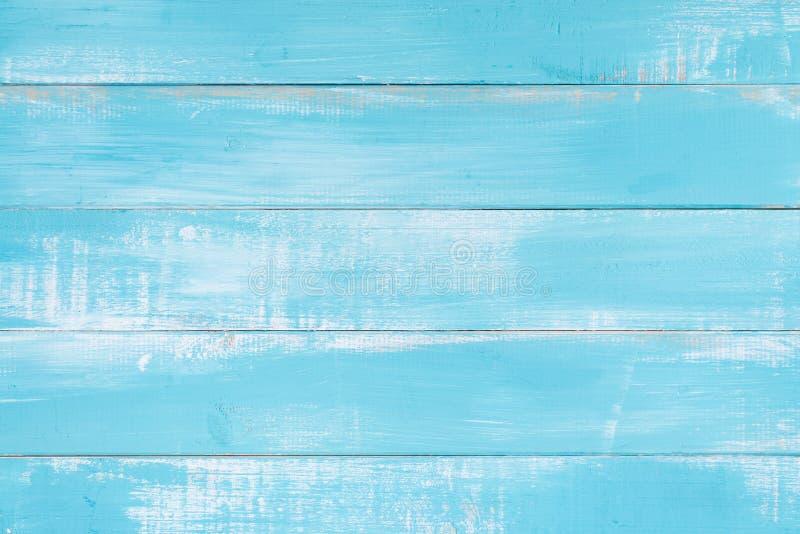 Błękitna drewniana tekstury tła powierzchnia z starego naturalnego wzoru lub starej drewnianej tekstury stołowym odgórnym widokie obrazy royalty free