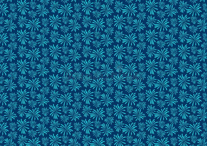 Błękitna fajerwerku wybuchu wzoru projekta tapeta royalty ilustracja
