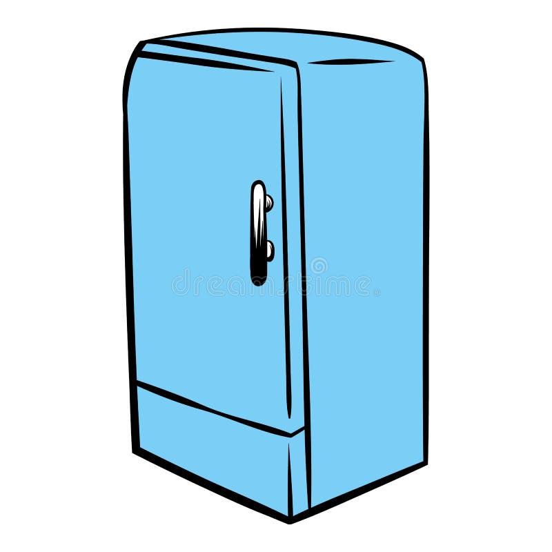 Błękitna fridge ikony kreskówka ilustracji