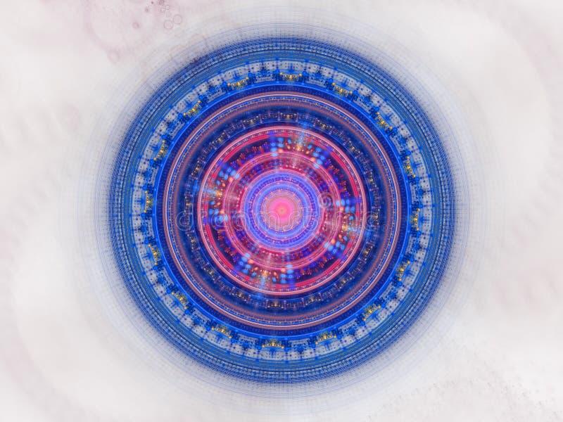 Błękitna futurystyczna galaktyczna foka ilustracja wektor