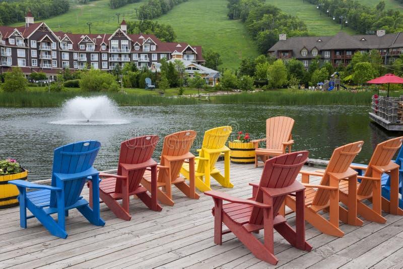 Błękitna górska wioska, Collingwood, Kanada zdjęcia royalty free