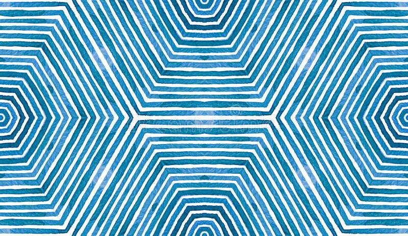 Błękitna Geometryczna akwarela bezszwowy słodkie wzoru royalty ilustracja