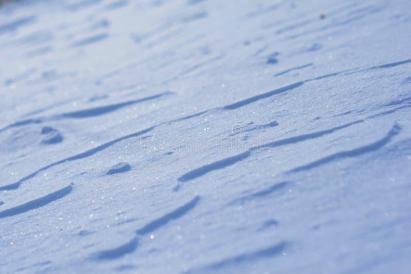 Błękitna glittery śnieżna koc zdjęcia royalty free