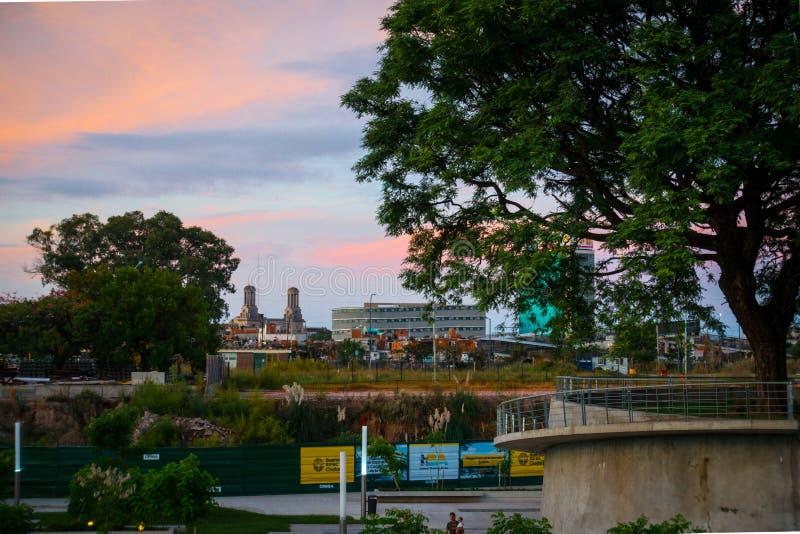 Błękitna godzina w Buenos Aires fotografia stock