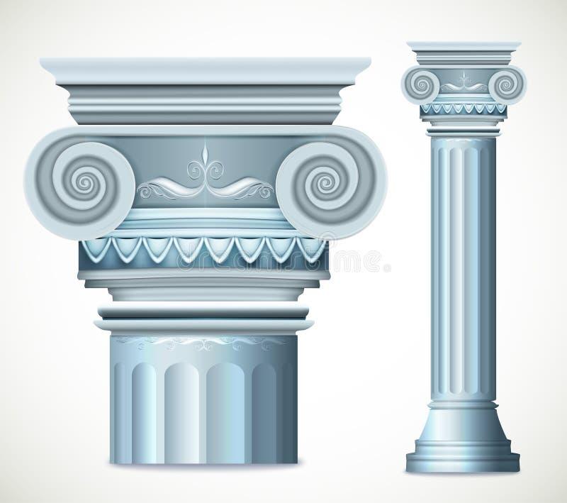 Błękitna Greece kolumna wektor royalty ilustracja