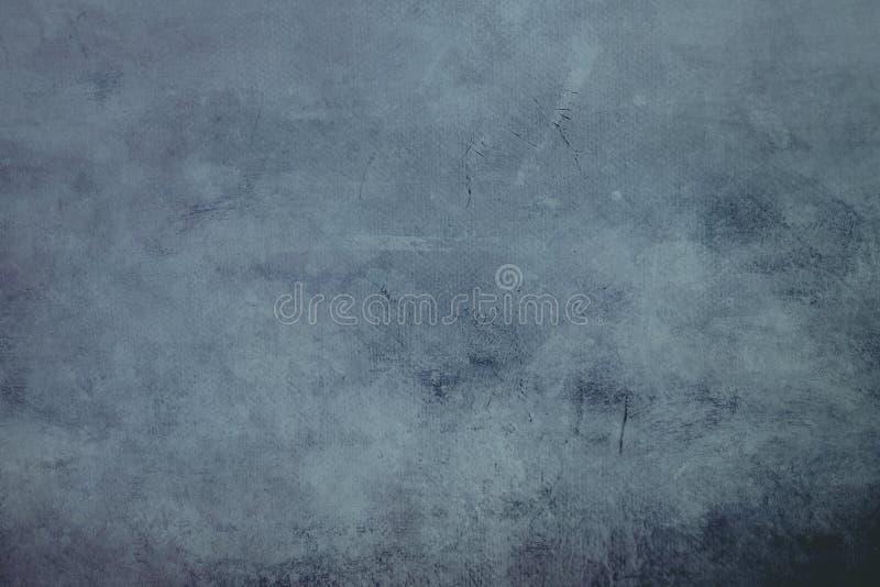Błękitna grungy brezentowa tekstura z ciemną winietą lub tło graniczymy obrazy stock