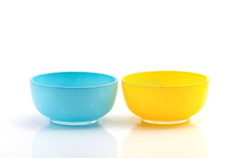 Błękitna i żółta filiżanka zdjęcia stock
