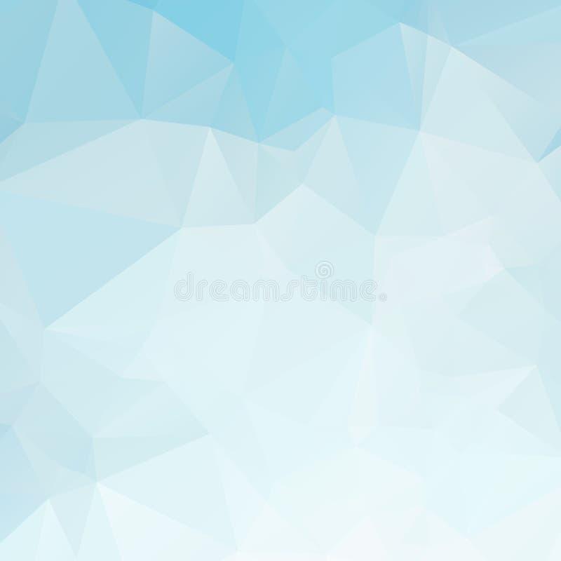 Błękitna i biała wielobok tekstura zdjęcia stock