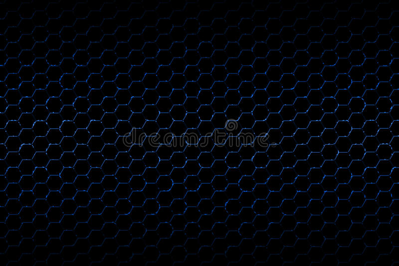 Błękitna i czarna kruszcowa siatki tła tekstura ilustracji