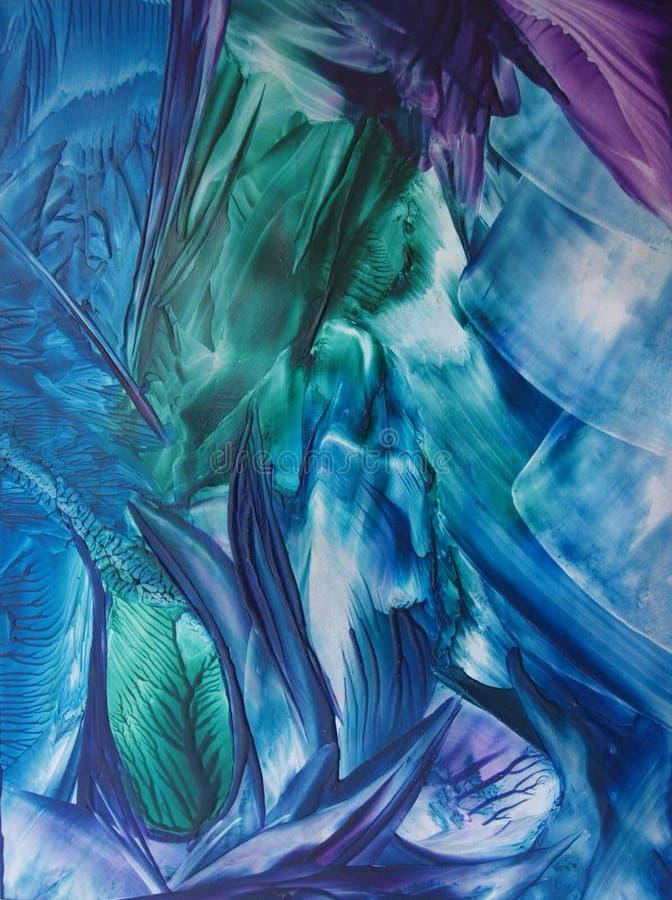 Błękitna i purpurowa abstrakcja zdjęcie royalty free