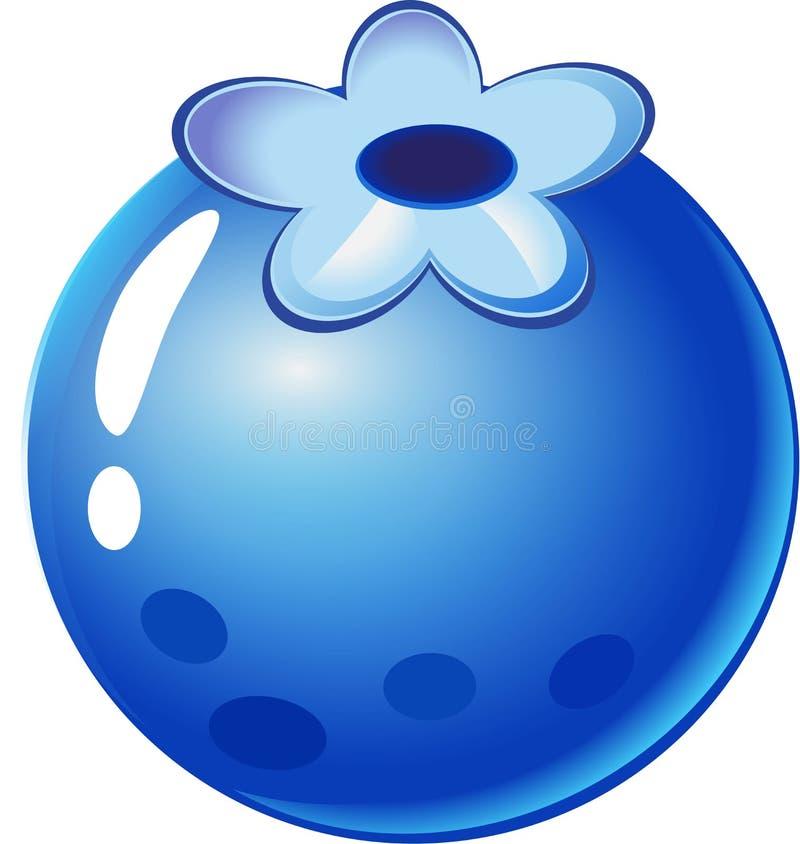 Błękitna jagoda - owoc rzeczy dla dopasowania 3 gier ilustracja wektor