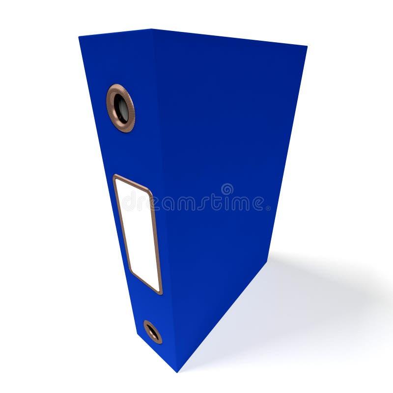 Błękitna kartoteka Dla Dostawać biuro Organizujący ilustracji